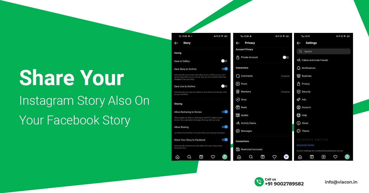 Smart Instagram Hack Share Your Instagram Story Also On Your Facebook Story